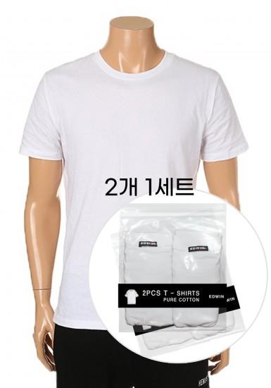 반팔 라운드 티셔츠(2PCS 패키지)_HTY402