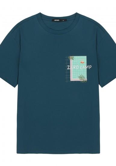 스위밍풀 프린트 반팔 티셔츠_HTG401