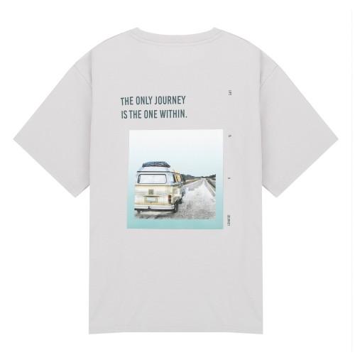 전사그래픽 오버핏 반팔 티셔츠_HTG506