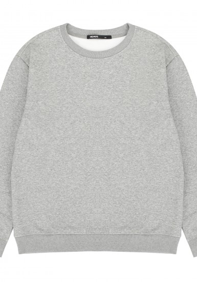 로고프린트 기모안감 맨투맨 티셔츠_HTF980